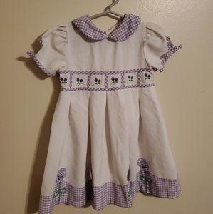 Vintage   Purple Gingham Floral Dress